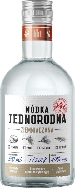 "Kartoffel Wodka Single-Grain ""Jednorodna"" aus Polen"