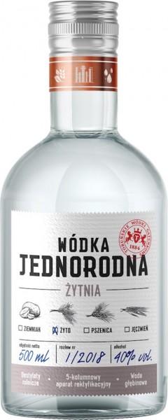 """Roggen Wodka Single Grain """"Jednorodna"""" aus Polen"""