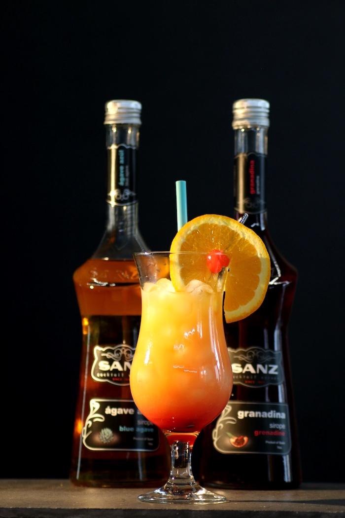 Tequila-Sunrise-alkoholfrei-mit-Sirups-Sanz