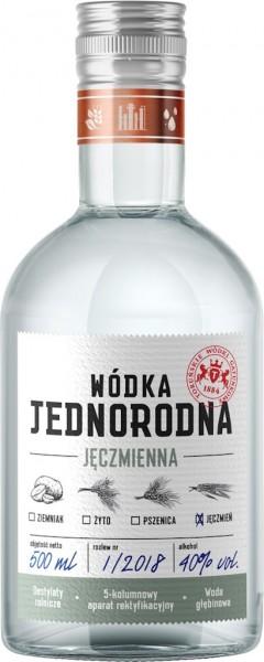 """Wodka aus Gerste Single-Grain """"Jednorodna"""" Polen"""